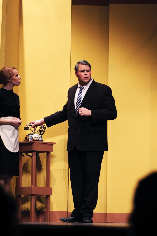 Senior Kurt Weigel during the play,
