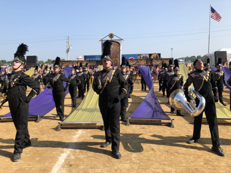 "The Marching Millers perform their first place show ""Beowulf."" This year"