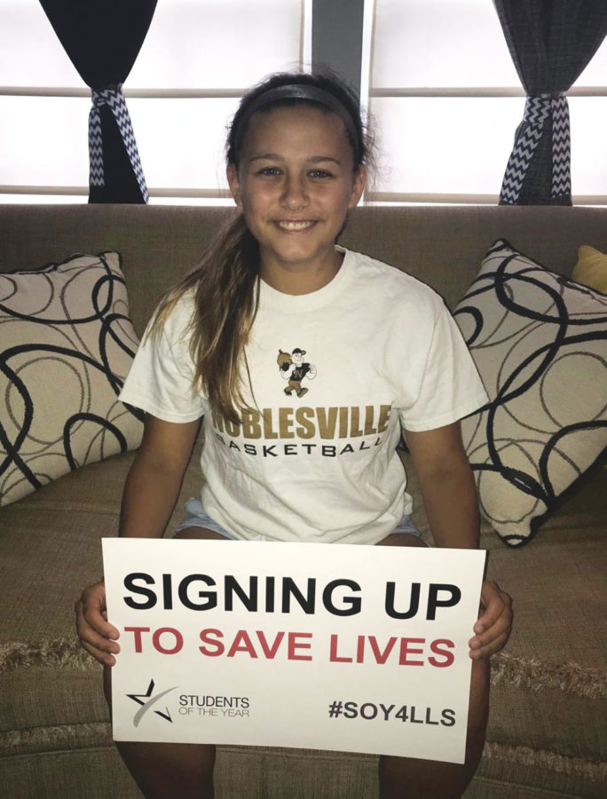Abby+Haley+encourages+her+social+media+following+to+donate+to+the+Leukemia+and+Lymphoma+Society.+On+her+own%2C+she+raised+almost+%2480%2C000.