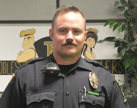 Officer Jason Shonkwiler begins his first year as a school resource officer at Noblesville High School.