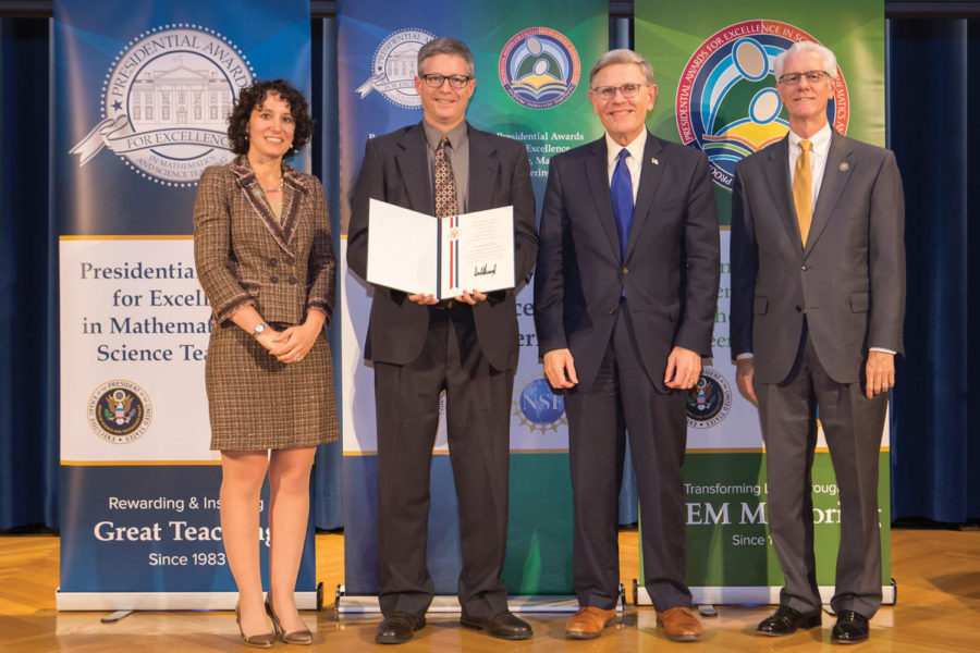 Making NHS proud: Math teacher David Ferris won the Presidential Award for Excellence in Mathematics and Science Teaching