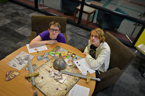 Juniors Alexander Knuckles and Thadeus Shipley are two of the founders NHS's Dungeons and Dragons club, reintroducing the club in 2018, the team of students was excited to bring the tabletop game to NHS.