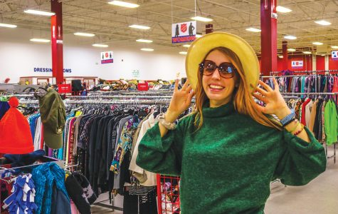 Thrifting thrills: Senior Aubrey Rudy has a knack for transforming ordinary vintage clothes into a stylish wardrobe