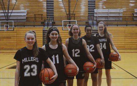 """They're great kids and they work hard and have learned pretty well so far,"" coach Donna Buckley said about the five freshmen girls in the basketball team."