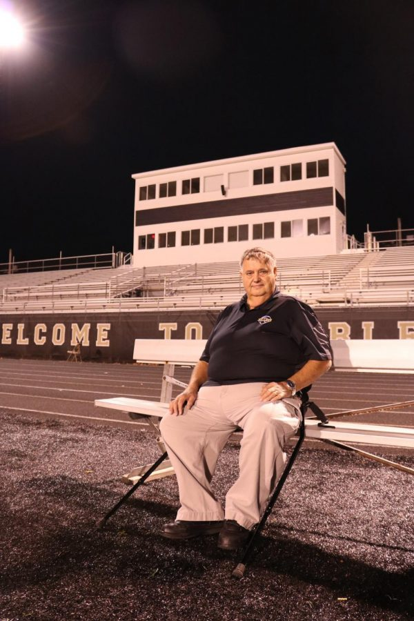 Woods returns to Beaver Materials field, the same place he watched Miller athletics since '69. While sitting on the bench, he reminisces on all of the games he has watched over the decades.