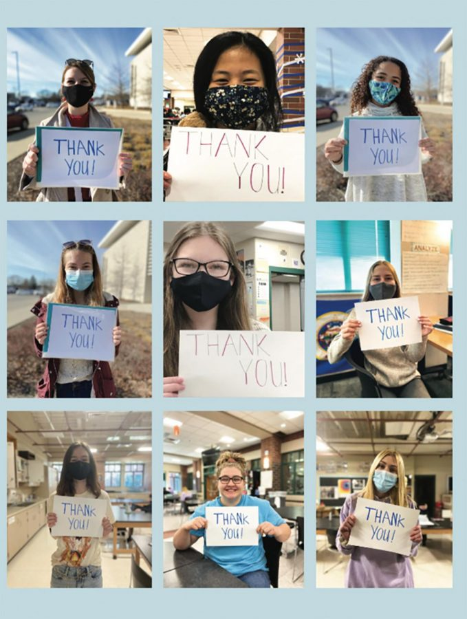 NHS students thank nurses for their efforts during these unprecented times.